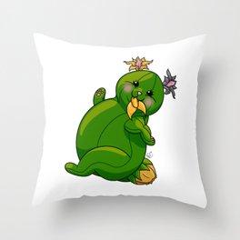 Fat CATuar Throw Pillow
