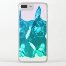 Ava dreams of pastel friends Clear iPhone Case