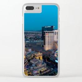 Vegas Strip - Paris Clear iPhone Case