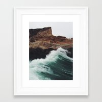 wave Framed Art Prints featuring Montaña Wave by Kevin Russ