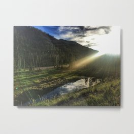 North Fork Meadow Sunset Metal Print