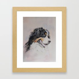 Pyrenean mountain dog, Watercolour art Framed Art Print