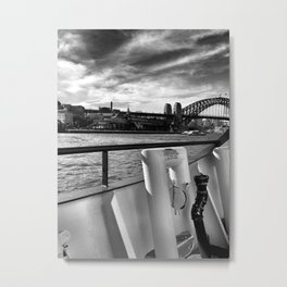 Sailing the Sydney Harbour Metal Print