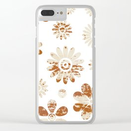 Shabby Flowers Clear iPhone Case