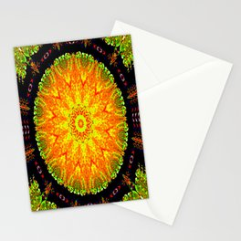 Citrus Slice Kaleidoscope Stationery Cards