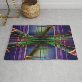 Plaid Movement 001 - Geometric - Unique Plaid - Colorful Plaid - Corbin Henry Rug