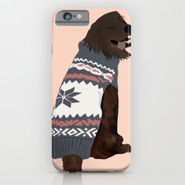 Brown lab love pup iPhone Case