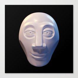 Alien-human hybrid head Canvas Print