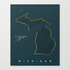 MDOT - Michigan Land & Maritime Borders Canvas Print