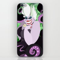 ursula iPhone & iPod Skins featuring Ursula by Karrashi