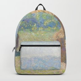 Haystacks, end of Summer by Claude Monet Backpack