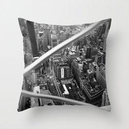 Manhattan from Above, 2018 Throw Pillow