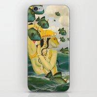 mermaid iPhone & iPod Skins featuring MERMAID by Julia Lillard Art