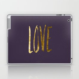 Love —gold Laptop & iPad Skin