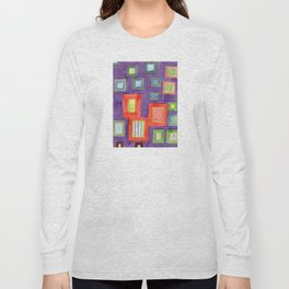 Various Frames on dotted Wall Long Sleeve T-shirt