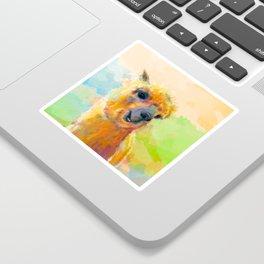 Colorful Happiness - Alpaca digital painting Sticker