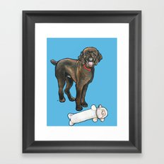 Milo the Poodle with his Monkey Framed Art Print