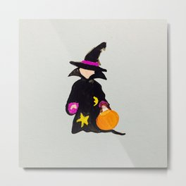Witch Sorcerer October Halloween Trick or Treat Toddler Metal Print