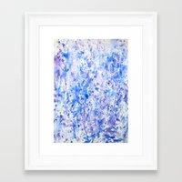 splatter Framed Art Prints featuring splatter by From Roxy