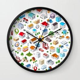 Urban pattern Wall Clock