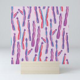 Pop Cactus in watercolor // Pattern design // Home decor collection Mini Art Print