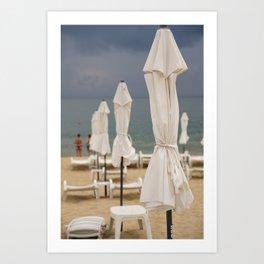 Bulgarian summer time sea view from the beach Art Print