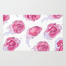 Rose in Pink Water Rug
