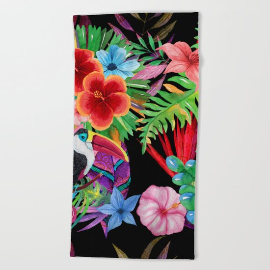 hawaiian beauty Beach Towel