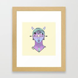 Lunar Download Framed Art Print
