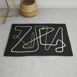 Movements Black Rug