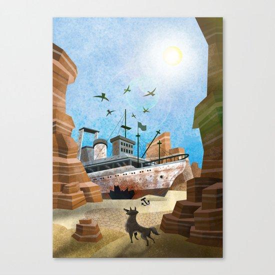 Desert Boat VACANCY zine Canvas Print