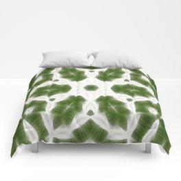 Green White Kaleidoscope Art 6 Comforters