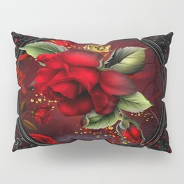 Rose Red Pillow Sham