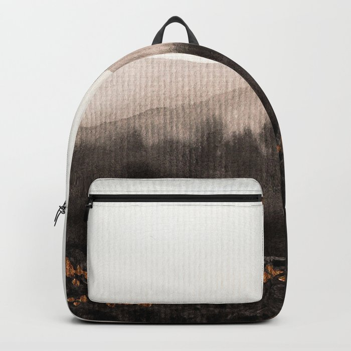 Watercolor abstract landscape 24 Backpack
