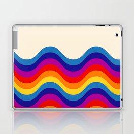 Wavy retro rainbow Laptop & iPad Skin