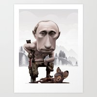 putin Art Prints featuring Putin by cristosalgado