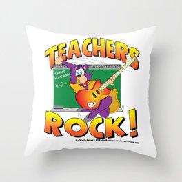 Teachers Rock Merchandise Throw Pillow