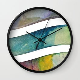 Rainbow Wave Wall Clock