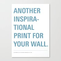 inspiration Canvas Prints featuring Inspiration. by Oli Phillips