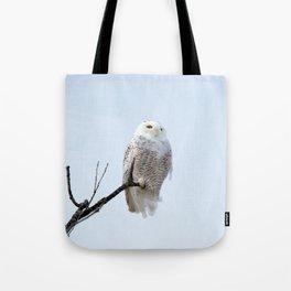 Lofty Vision (Snowy Owl) Tote Bag