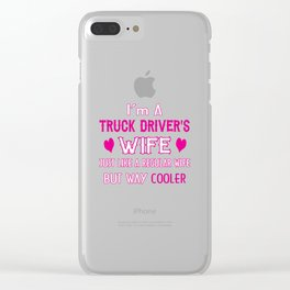 Truck Driver's Wife Clear iPhone Case