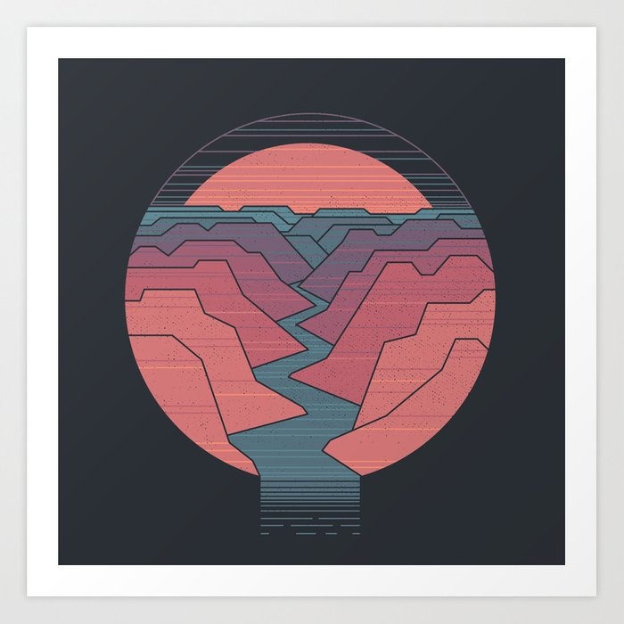 Canyon River Kunstdrucke