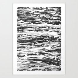 Waves drawing Art Print
