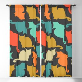 Cats and kittens Blackout Curtain
