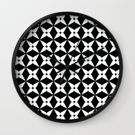 Geometric Pattern 247 (white crosses) Wall Clock