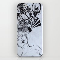 third eye iPhone & iPod Skins featuring Third Eye by Biancasigns