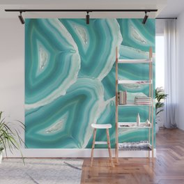 Geodes in Turquoise Crystal Wall Mural