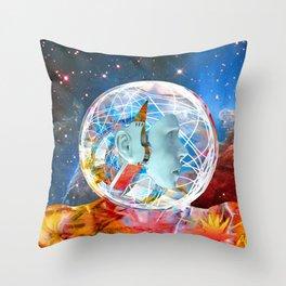 Star Robot Throw Pillow