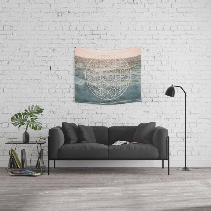 Mandala Flower of Life Sea Wall Tapestry