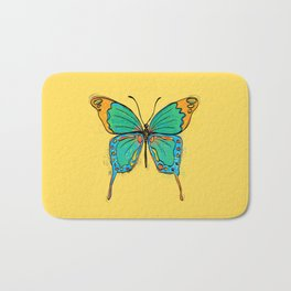 Simple Colorful Butterfly Bath Mat